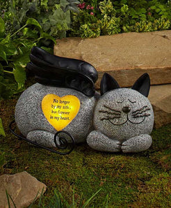 Memorial Stone Cat Angel - Cortez Candle's