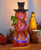 Holiday Lighted Stacked Pumpkins Color Changing - Cortez Candle's - 2