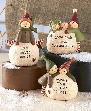 Holiday Snowball Chilren Figurine Set - Cortez Candle's - 1
