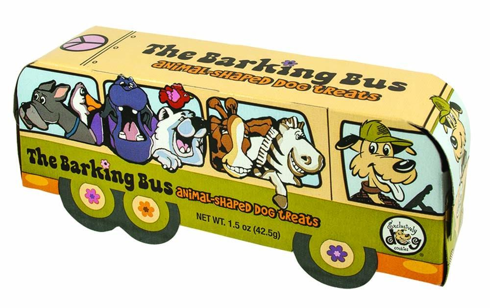 Exclusively Pet Cookies Barking Bus Animal Cookies Dog Treats 1.5oz - My Home and Pet