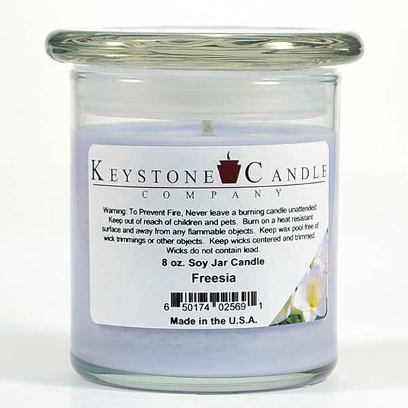 Jar 8oz Freesia - Cortez Candle's