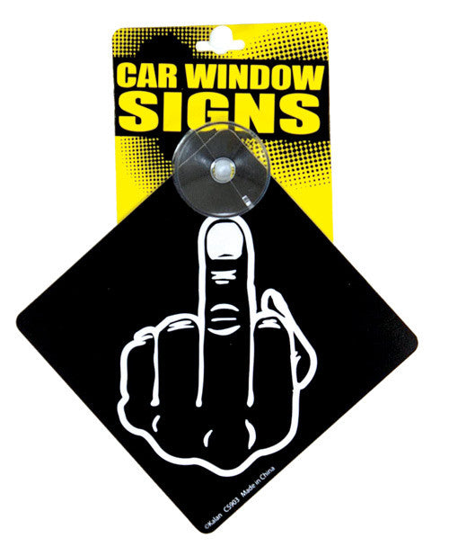 Car Sign Middle Finger - Cortez Candle's