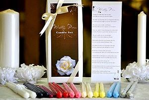 Bridal Poem Taper Candles Gift Set - Cortez Candle's