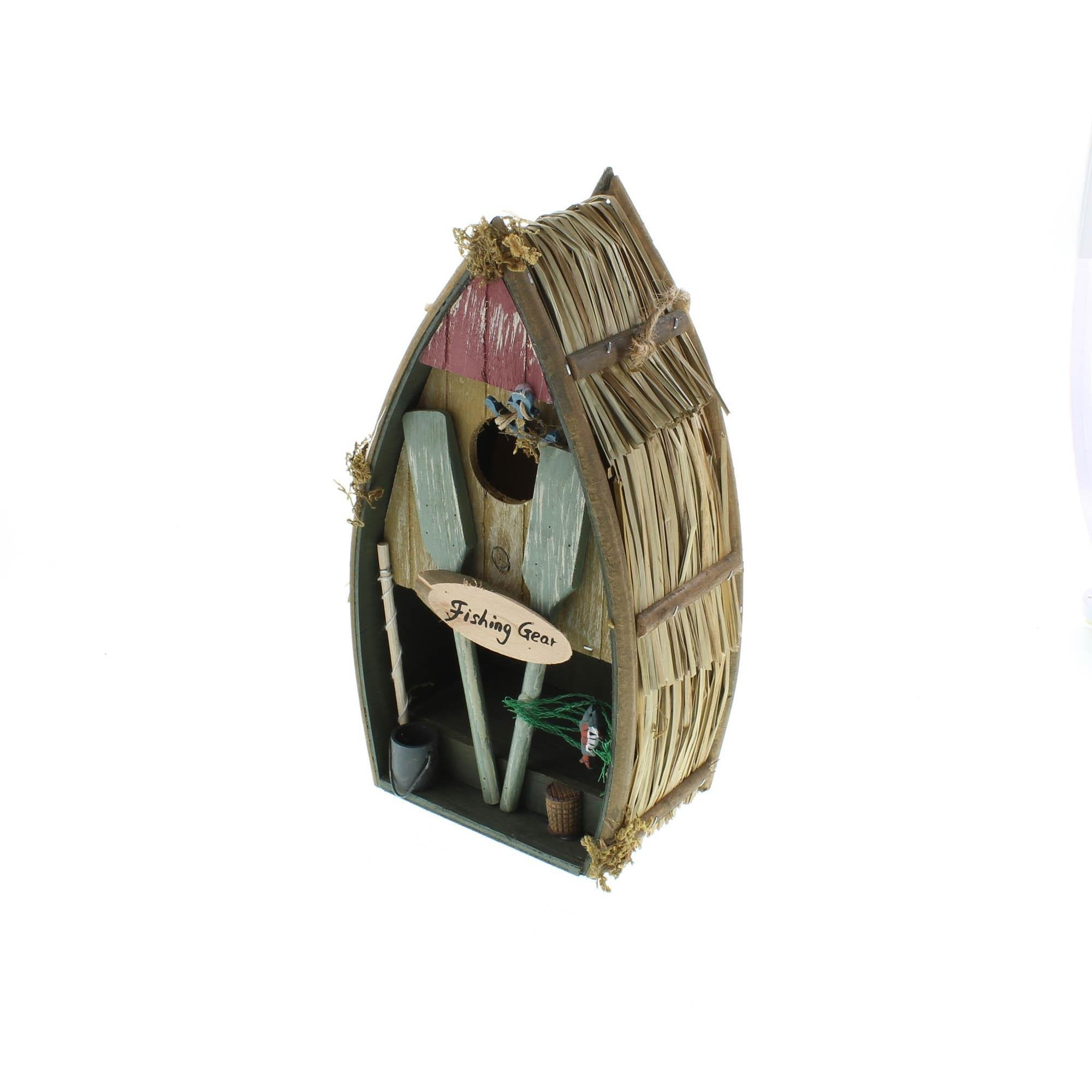 Birdhouse Fishermans Boat - My Home and Pet