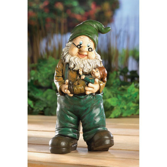 Gnome Grandpa with Grandson - Cortez Candle's - 1