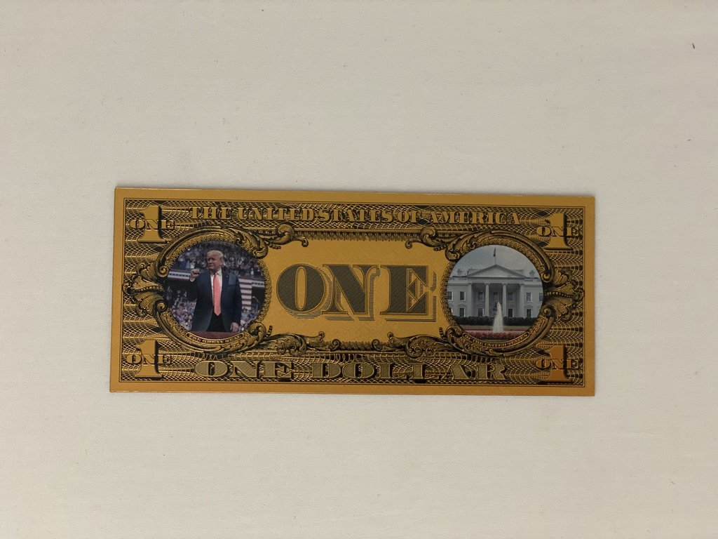 Donald Trump $1 Keep America Great Gold Bank Note - My Home and Pet