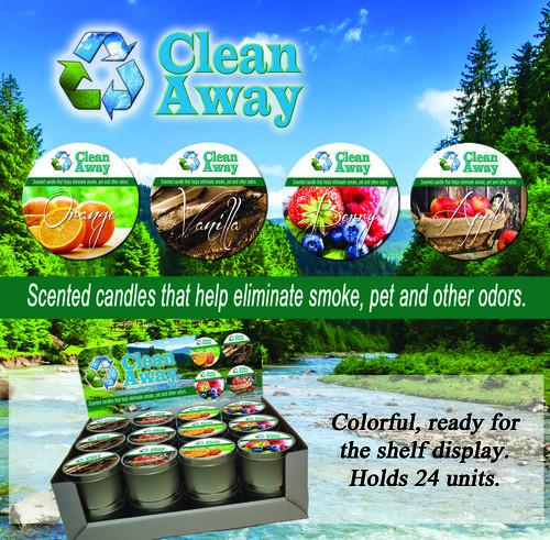Clean Away Tin Candle Variety Odor Eliminator 8oz Tins - My Home and Pet