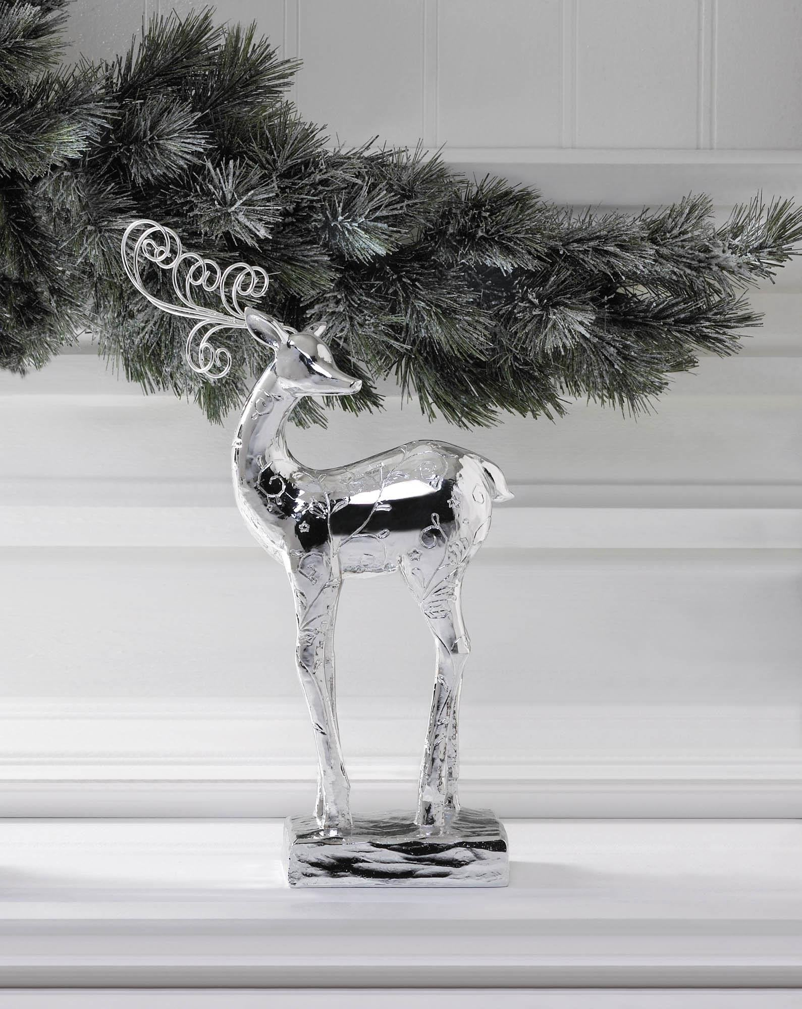 Reindeer Dancer Silver Statue - My Home and Pet