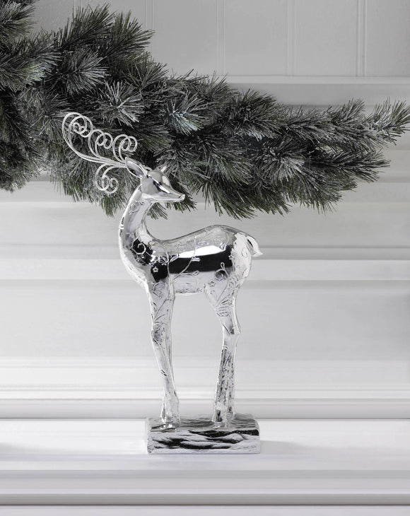 Reindeer Dancer Silver Statue - Cortez Candle's - 1