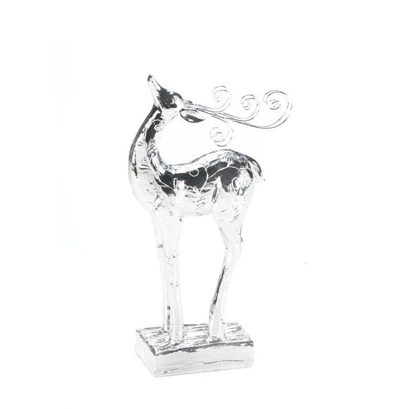 Reindeer Dasher Silver Statue - Cortez Candle's - 1