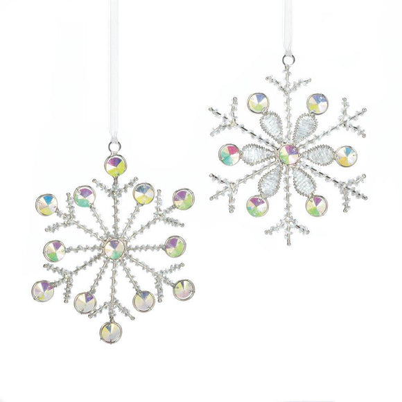 Ornament Silver Dazzling Snowflakes - Cortez Candle's