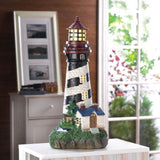 Solar Powered Lighthouse Garden Statue - Cortez Candle's - 1