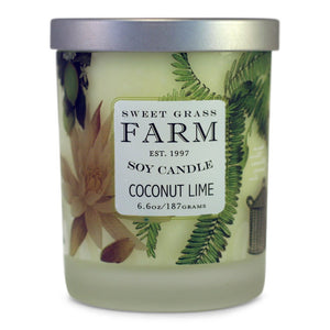 Frosted Tumbler Soy Wax Candles - Coconut Lime