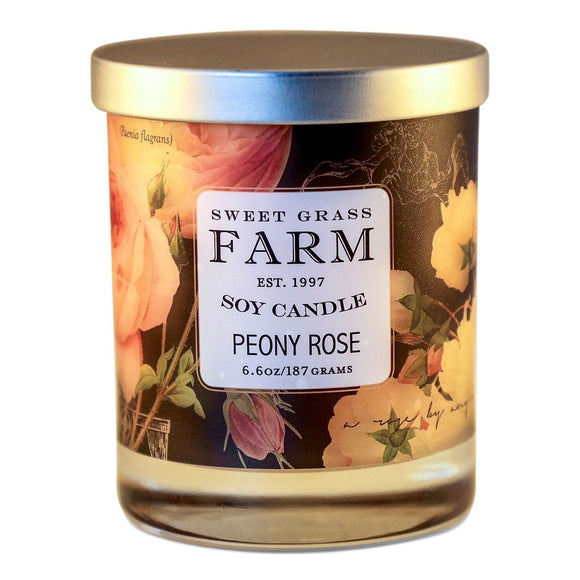 Frosted Tumbler Soy Wax Candles - Peony Rose