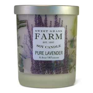 Frosted Tumbler Soy Wax Candles - Pure lavender