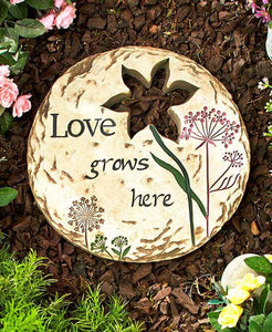 Stepping Stone Love Grows Here - Cortez Candle's - 1