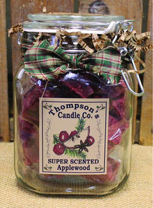 Crumbles - 11oz. Applewood in Class Canister - Cortez Candle's