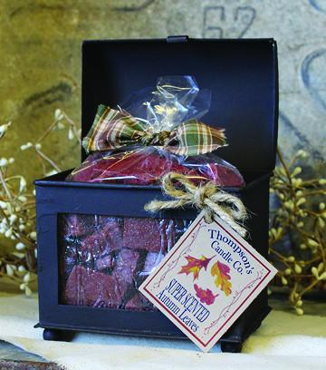Crumbles - 10oz. Autumn Leaves in Chest Box - Cortez Candle's - 1