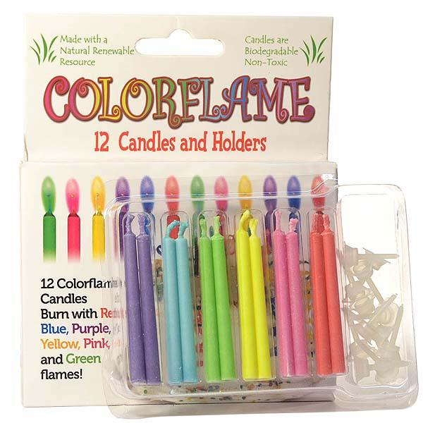 Colored Flame Birthday Candles - My Home and Pet