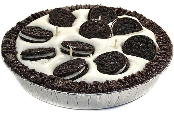9 Inch Scented Cookies and Cream Pie Candle - My Home and Pet