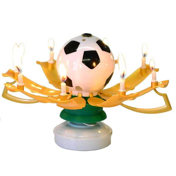 Musical Birthday Candles Soccer Ball - My Home and Pet