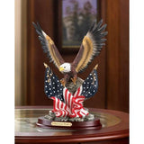 American Bald Eagle with Flags Statue