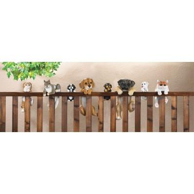CLIMBING FENCE BIG-EYED KITTEN GARDEN DECOR - My Home and Pet