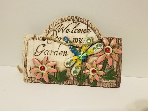Hanging Welcome Garden Sign