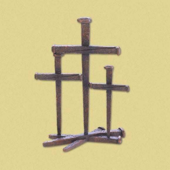 Christianity Three Nail Crosses - Cortez Candle's - 1
