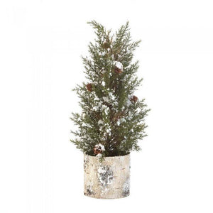 Christmas Tabletop Country Deer Birch Tree - My Home and Pet