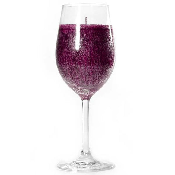 Merlot Drink Scented Wine Bar Glass Candle - My Home and Pet