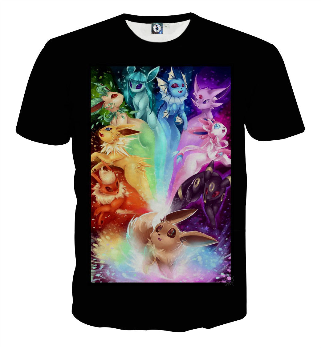 e96a1d9a Pokemon Eevee Cute Evolution All Type Colorful Vibrant Streetwear ...