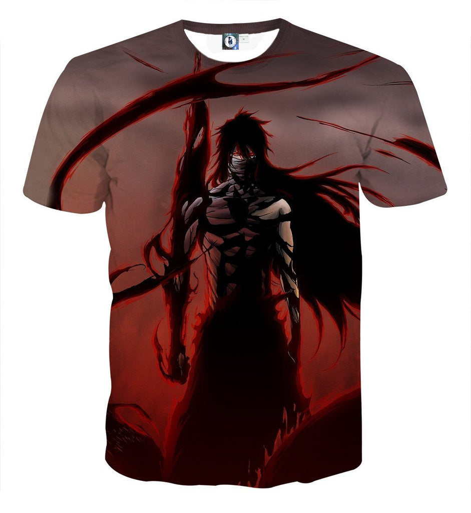 Bleach Ichigo Getsuga Moon Fang Technique Anime Art T-Shirt