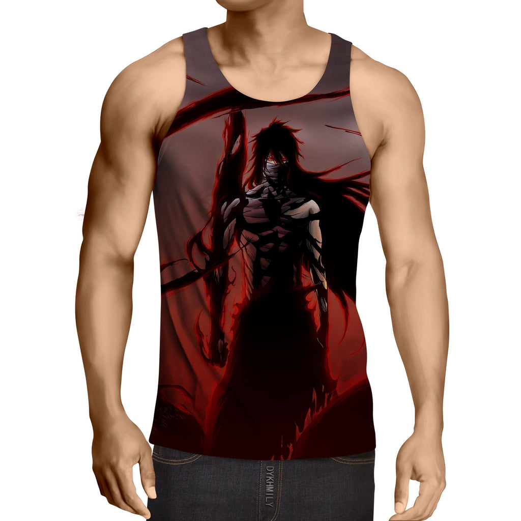 Bleach Ichigo Getsuga Moon Fang Technique Gym Tank Top