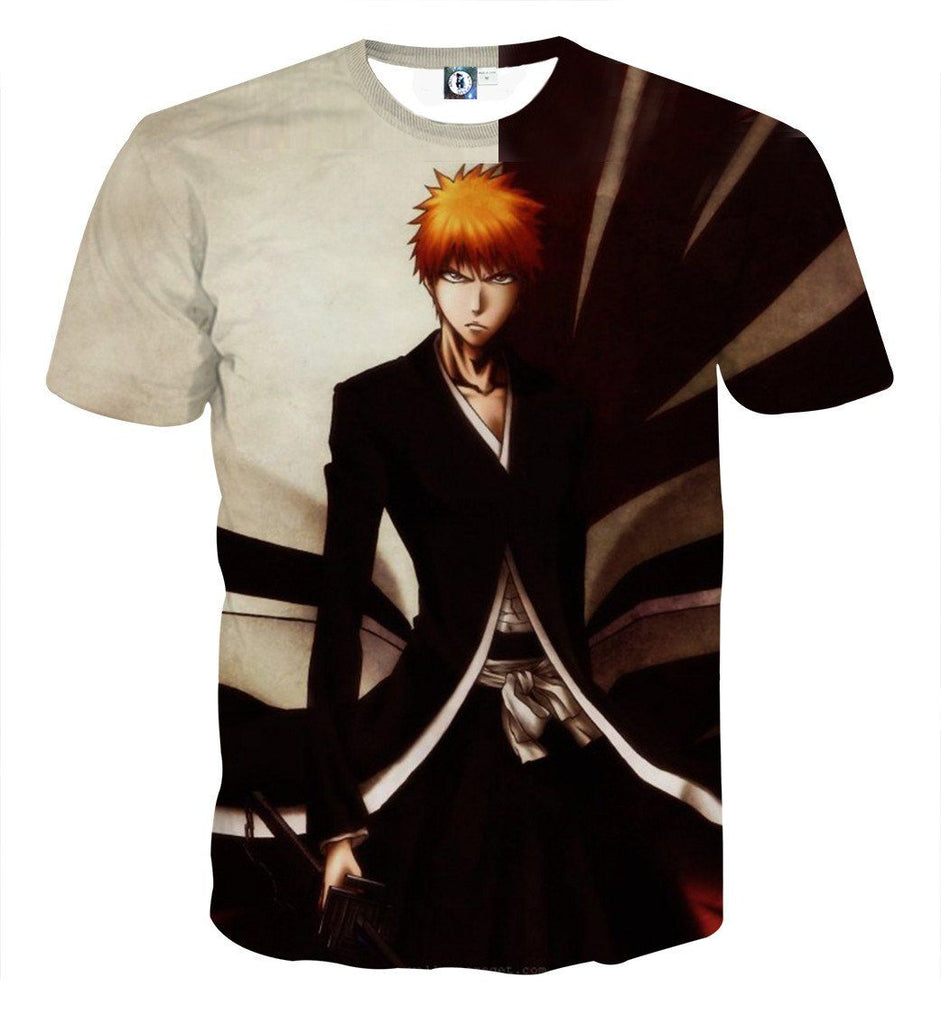 Bleach Ichigo Kurosaki Shinigami Power Anime Theme T-Shirt