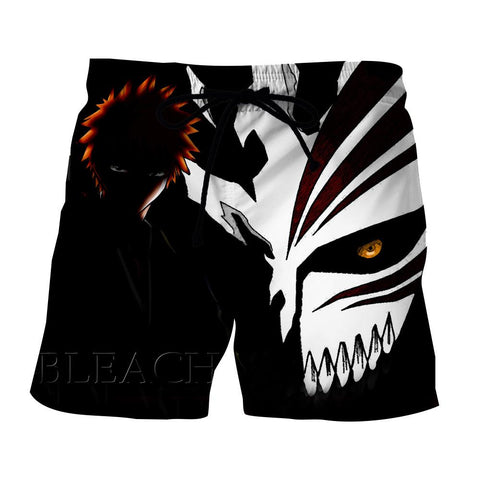 Bleach Ichigo Hollow Mask Draw Color Print Dope Shorts