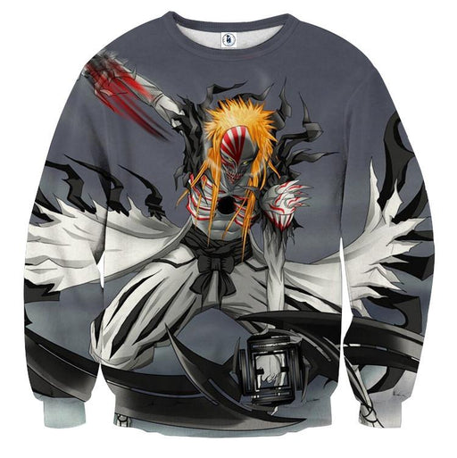Bleach Ichigo Hollow Full Form Fan Art Design Sweatshirt