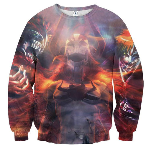 Bleach Ichigo Hollow Full Form Evil Horns Anime Sweatshirt