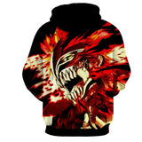 Bleach Ichigo Hollow Face Mask Manga Style Winter Hoodie
