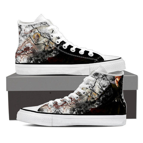 Bleach Ichigo Zangetsu Full Form Hollow Cool Pattern Converse Shoes