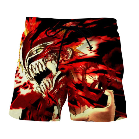 Bleach Ichigo Hollow Face Mask Manga Style Basic Shorts