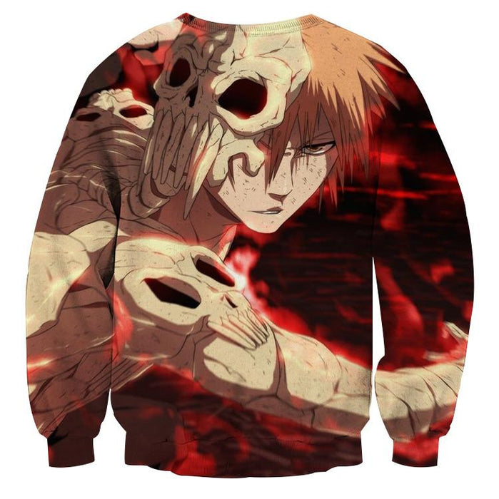 Bleach Anime Ichigo Kurosaki Hollow Wearing Suit Hero Sweatshirt - Konoha Stuff