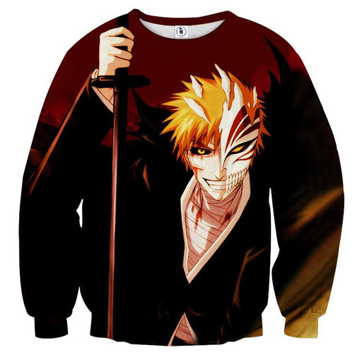 Bleach Ichigo Hollow Mask Fan Art Sketch Design Sweatshirt
