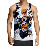 Bleach Ichigo Kazui Soul King Father Son Design Tank Top