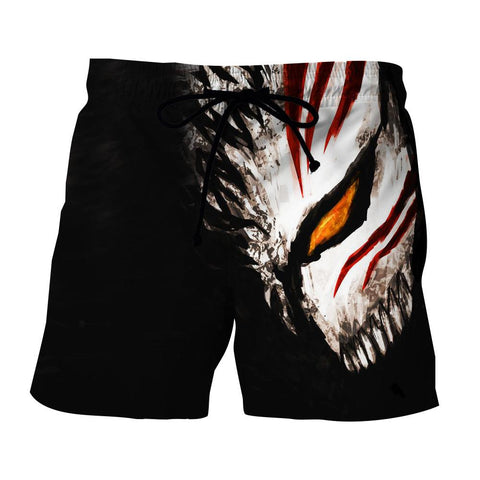 Bleach Ichigo Face Mask Art Drawing Streetwear Shorts