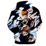 Bleach Ichigo Kazui Soul King Father Son Winter Hoodie