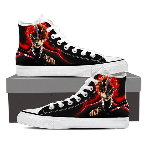 Bleach Anime Ichigo Kurosaki Hollow Mask Cool Converse Shoes - Konoha Stuff