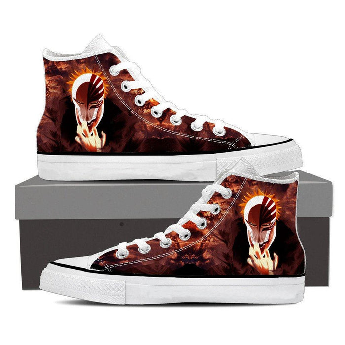 Bleach Anime Ichigo Kurosaki Hollow Mask Cool 3D  Converse Shoes - Konoha Stuff