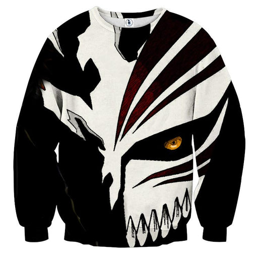 Bleach Ichigo Hollow Mask Draw Color Print Dope Sweatshirt