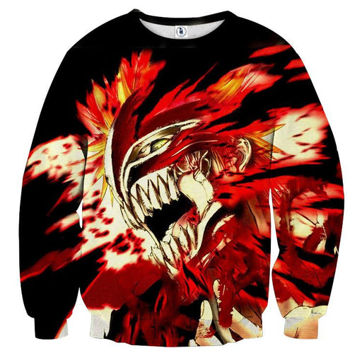 Bleach Ichigo Hollow Face Mask Manga Style Winter Sweatshirt